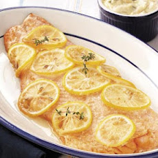 Hickory Barbecued Salmon with Tartar Sauce Recipe