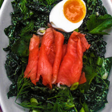 Kale Salad with Buttermilk Anchovy Dressing