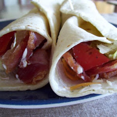 A Fun and Frolic Kind of Avocado, Bacon, and Tomato Wrap Yippee!