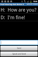 Screenshot of Deaf - Hearing chat device D