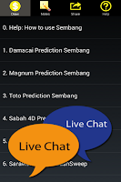 Screenshot of Live 4D Malaysia Free