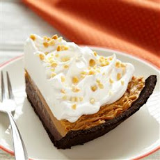 Spiced Pumpkin and Chocolate Peanut Butter Pie