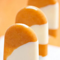 Apricot and Lemon Verbena Pops