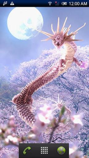 桜龍神と月