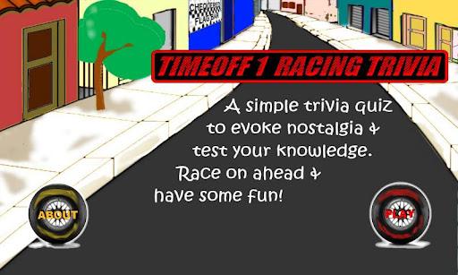 TimeOff1 Racing Trivia