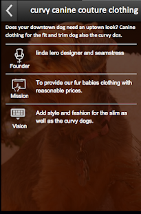 curvy canine couture clothing - screenshot