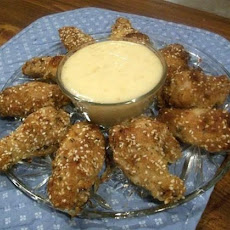 Chicken Wings.... With a Sesame Honey Dip