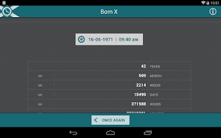 Screenshot of Born X - How old am I?