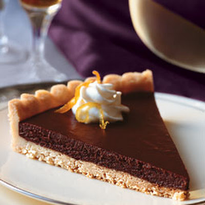 Bittersweet Chocolate-Citrus Tart with Jasmine Whipped Cream