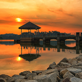 Sunset @ Lower Peirce,Singapore by Kafoor Sammil - Landscapes Sunsets & Sunrises ( lower peirce, reservoirpark, sunset, lowerpeirce, singapore )