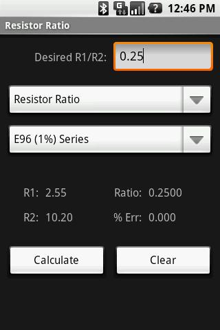 Resistor Ratio Calculator
