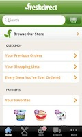 Screenshot of FreshDirect