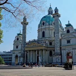 Karlskirche by Helena Moravusova - Buildings & Architecture Public & Historical