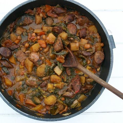 Moroccan Stew - With Either Veggie Sausage Or Beef