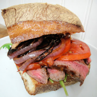 Steak, Tomato, and Onion Sandwiches