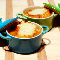 French Onion Soup with Thyme and Gruyère Crostini