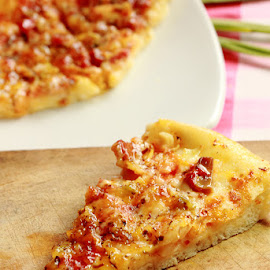 Pizza by Surya Ibrahim - Food & Drink Meats & Cheeses