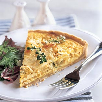 Yellow Squash and Mozzarella Quiche with Fresh Thyme