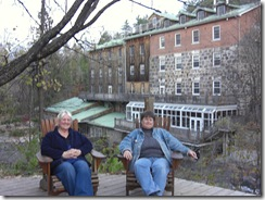 gail and me relaxing at mill