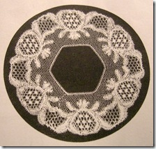 lace waterlily hexagon