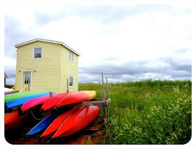 kayaks and sand pei