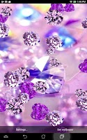 Screenshot of Purple Diamond Live Wallpaper