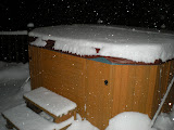 Obligatory hot tub for enjoying the snow under the stars.