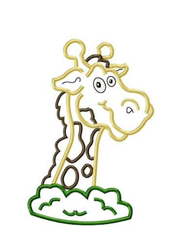 Giraffe Head Applique