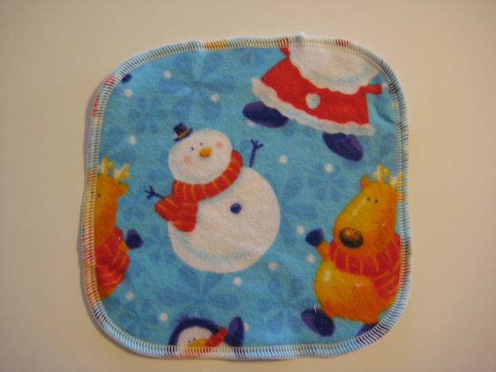 """""""Winter"""" Flannel Cloth Wipes"""