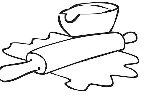 Dibujos de cocina para colorear imagui for Herramientas de un cocinero