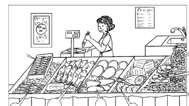 Dibujos de comercios para colorear - Como iluminar un escaparate ...