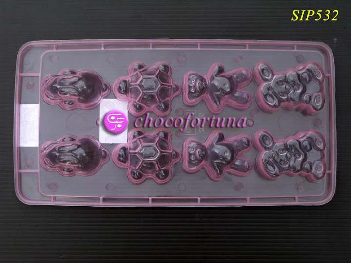 Cetakan Coklat binatang Hewan Kura Kelinci SIP532