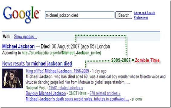 MJ dead in 2007