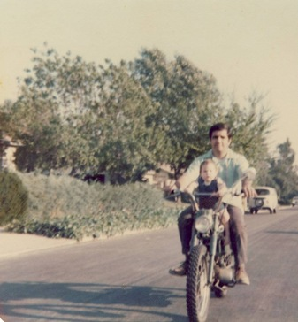 Dad on motorcycles