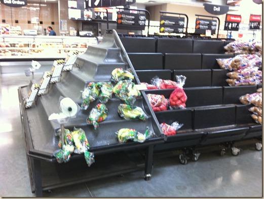 No produce