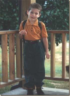 First Day of Kindergarten 1992-93 Kale