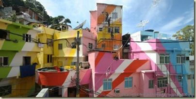 Repeindre les favela, Santa Marta, Brésil-5