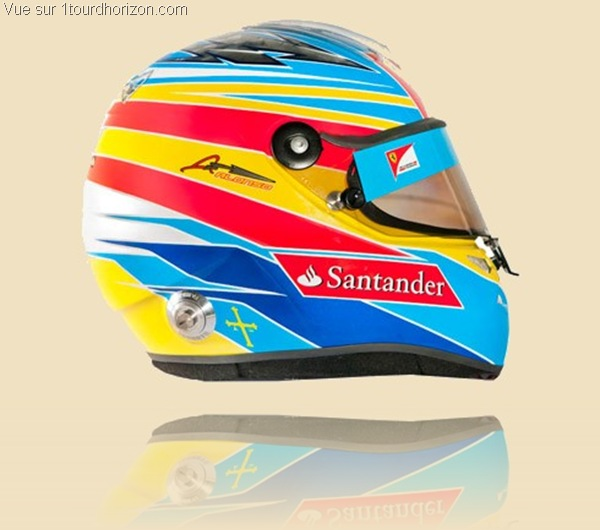 Casque des pilotes de formule 1 - Fernando Alonso