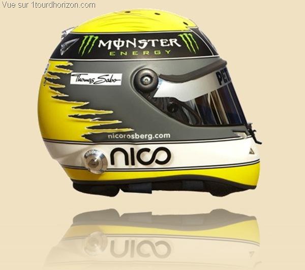 Casque des pilotes de formule 1 - Nico Rosberg