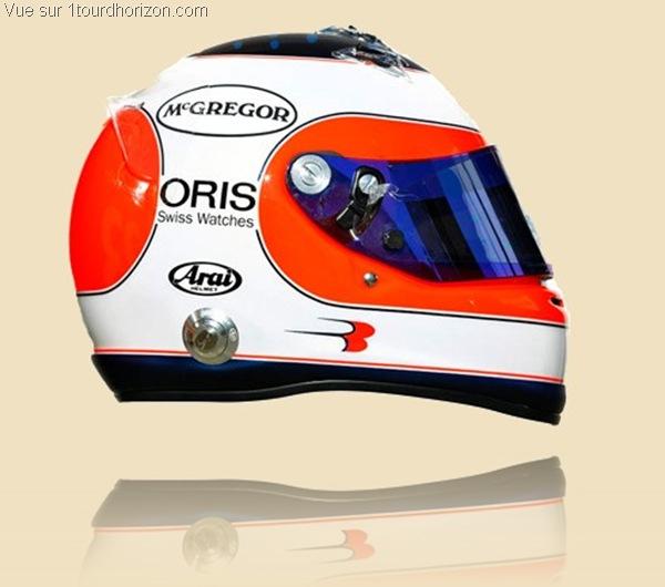 Casque des pilotes de formule 1 - Rubens Barrichello