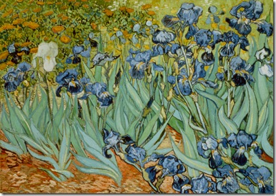 Irises by Vincent van Gogh --- Image by © J.P.GETTY TRUST/CORBIS SYGMA
