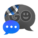 GO SMS THEME - Smooth DeepBlue icon