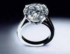 De Beers Platinum Engagement Ring