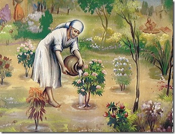 Sai_Baba_Watering_plants