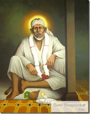 Shrid Sai Baba Painting