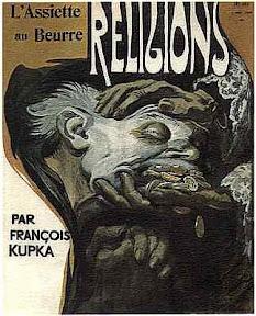 Kupka, anarchiste; 'Religions' L'Assiette au Beurre 162, 1904; source, Research on Anarchism