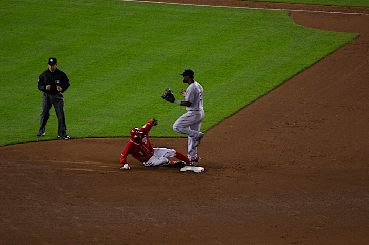 Morgan slides in safely