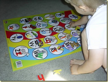 baby letter game