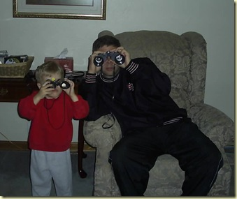 binoculars with daddy