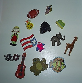 f and g phonics box objects